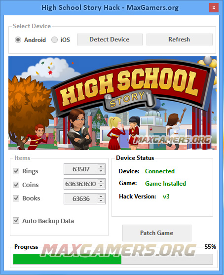 High School Story Cheats – Free Coins, Rings & Books 2