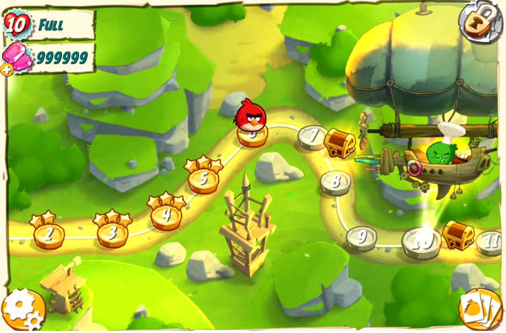Angry Birds Under Pigstruction Hacked