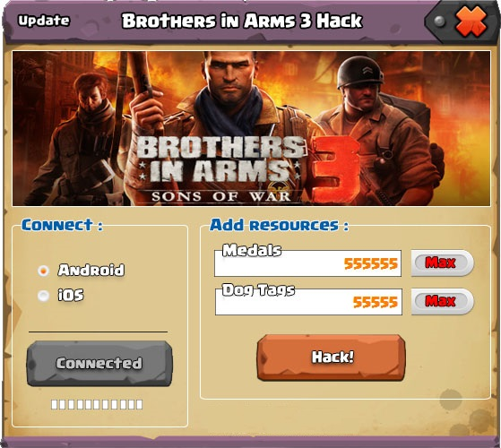 Brothers in Arms 3 Hack Tool Brothers in Arms 3 Hack [Astuce / Triche / Trucchi / Trucos ]