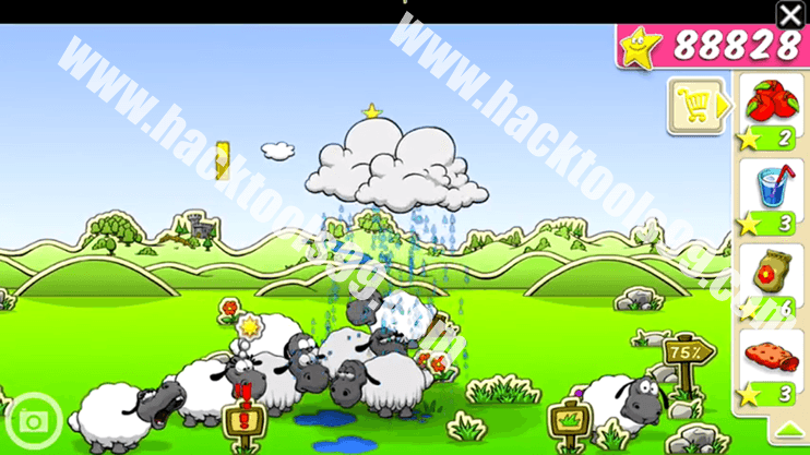 Clouds & Sheep Hack Working Proof