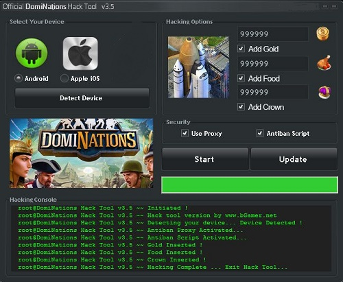 DomiNations Cheats Hack Tool
