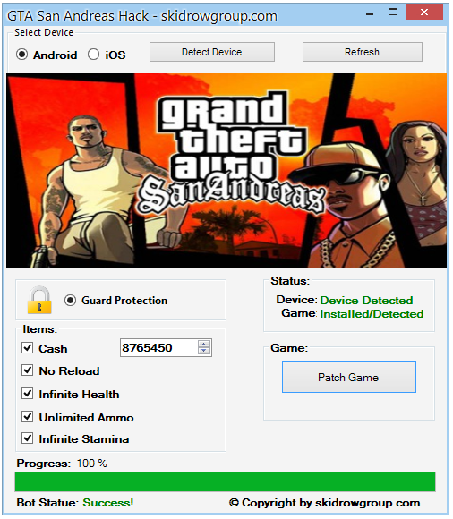 GTA San Andreas Hack