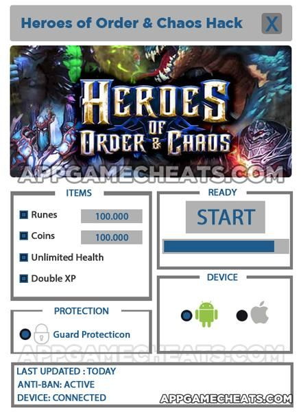 Heroes of Order And Chaos Hack