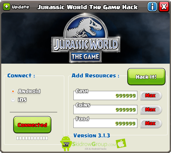 Jurassic World The Game Hack