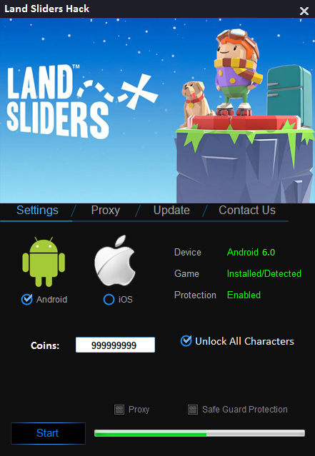 Land Sliders Hack