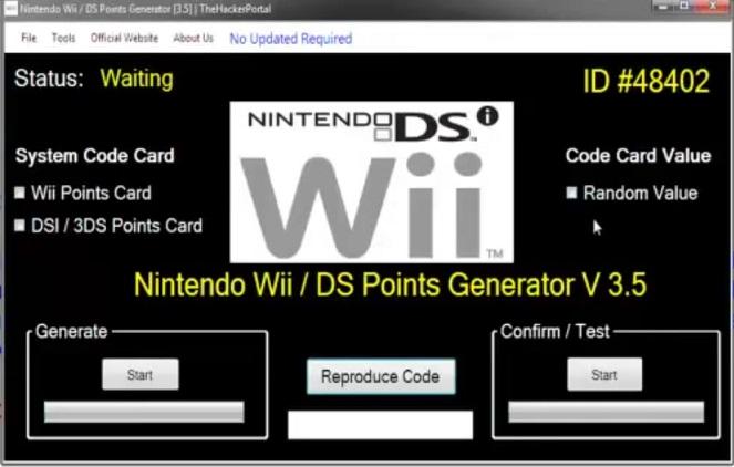 Nintendo eShop Code Generator