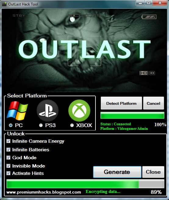OutLast Infinite Invisible Mode Hack