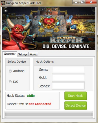 Dungeon Keeper Hack Cheat Tool