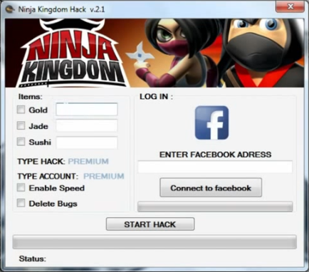 Ninja Kingdom Facebook Hack
