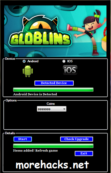 Globlins Hack Tool Unlimited Coins No need Jailbreak or Root 100 % undetectable and safe