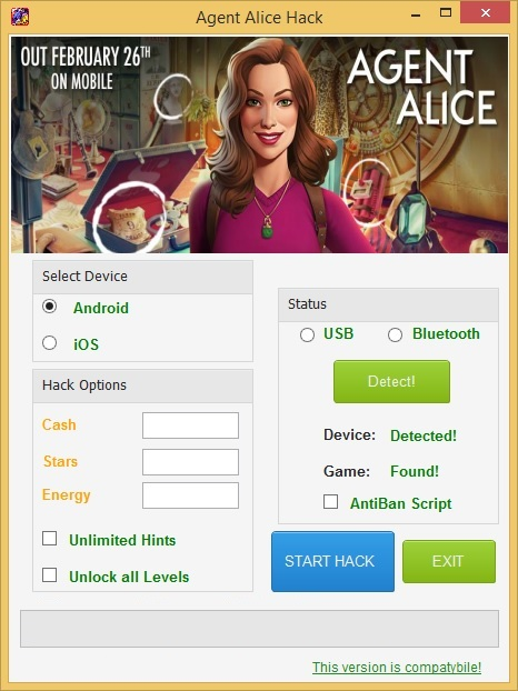 agent alice hack1 Agent Alice Hack Cheats Adroid and IOS – Unlimited Cash, Stars and Energy