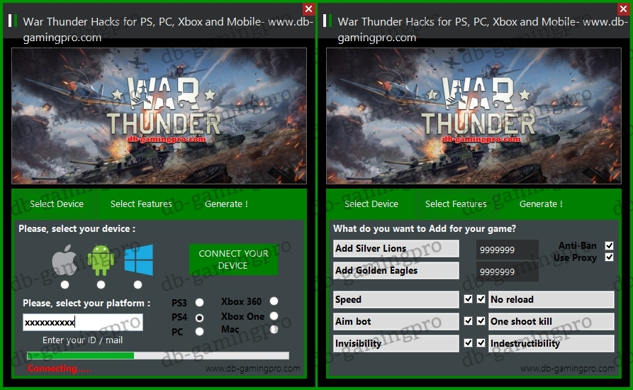 War Thunder Hacks for PS, PC, Xbox and Mobile