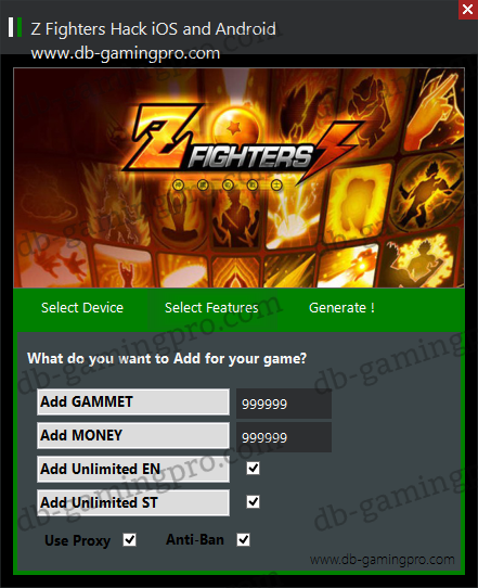 Z Fighters Hack for iOS and Android