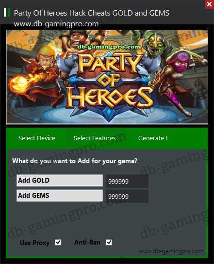 Party Of Heroes Hack Cheats GOLD and GEMS