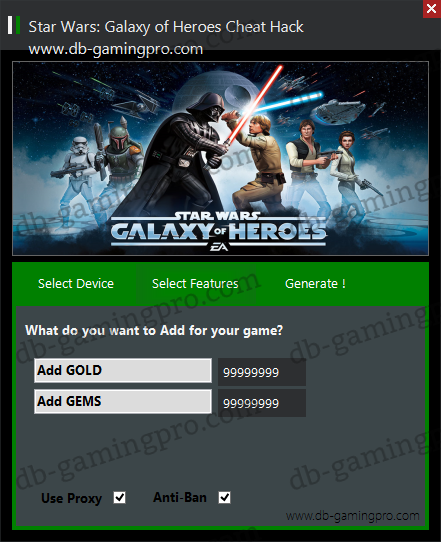 Star Wars: Galaxy of Heroes Hack Cheats Triche