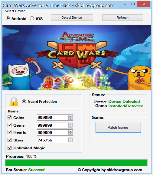 Card Wars Adventure Time Hack - Android iOS Cheats