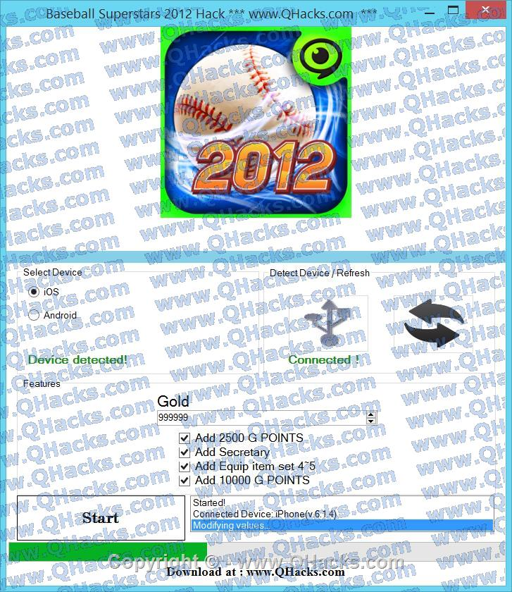 Baseball Superstars 2012 hacks