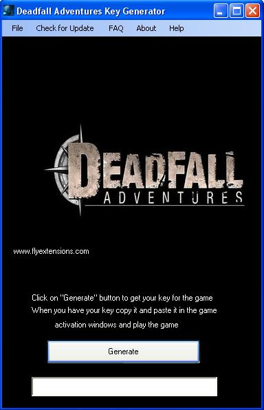 deadfall adventures key generator download Deadfall Adventures Key Generator Download