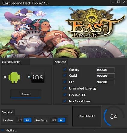 East Legend Hack Cheat Tool