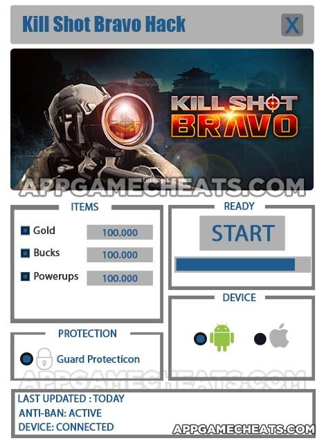 Kill Shot Bravo Hack for Gold, Bucks, & Powerups