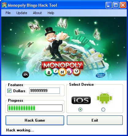 Monopoly Bingo Hack