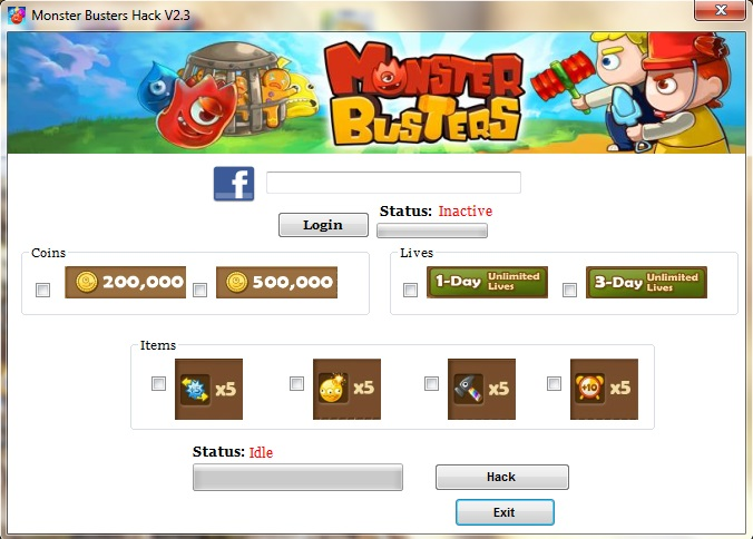Monster Buster Facebook Hack Cheats