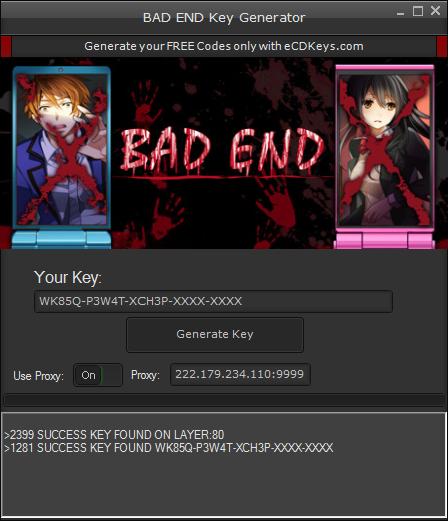 BAD END cd-key