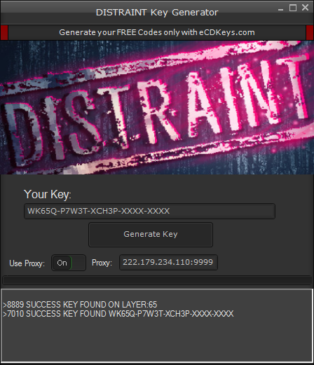 DISTRAINT cd-key