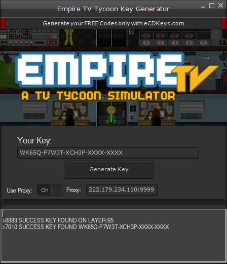 Empire TV Tycoon cd-key