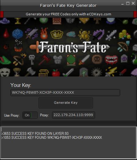 Faron's Fate cd-key