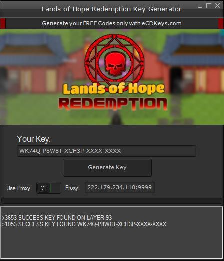 Lands of Hope Redemption cd-key