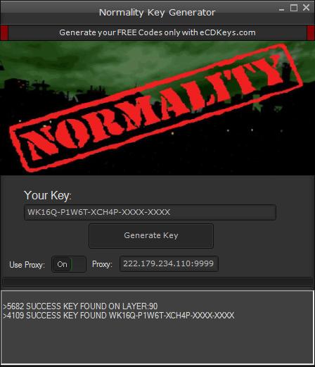 Normality cd-key