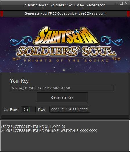 Saint Seiya: Soldiers' Soul cd-key