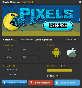 Pixels Defense Hack