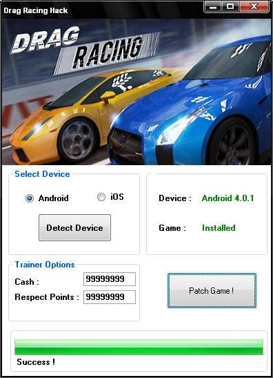 Drag Racing Astuce Tricher