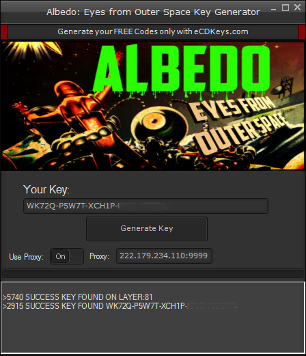Albedo Eyes from Outer Space cd-key