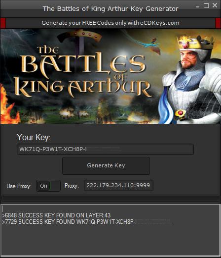 The Battles of King Arthur cd-key