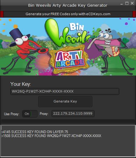 Bin Weevils Arty Arcade cd-key