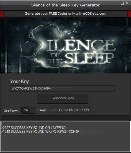 Silence of the Sleep cd-key