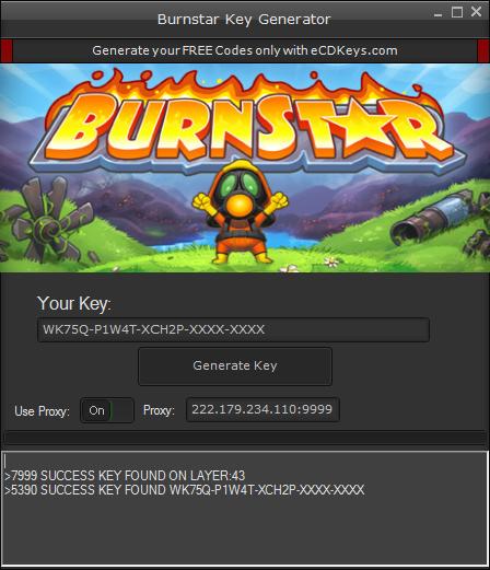 Burnstar cd-key