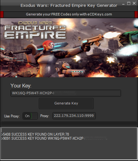 Exodus Wars Fractured Empire cd-key