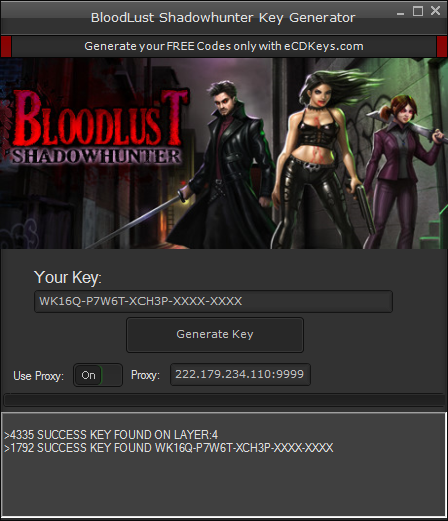 BloodLust Shadowhunter cd-key