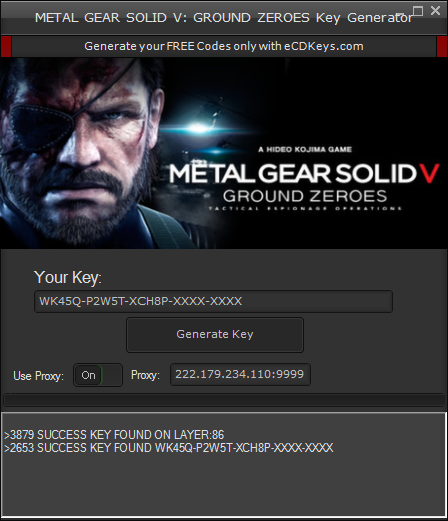 METAL GEAR SOLID V: GROUND ZEROES cd-key
