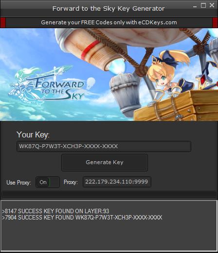 Forward to the Sky cd-key