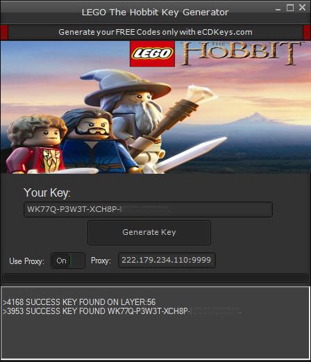 LEGO The Hobbit cd-key
