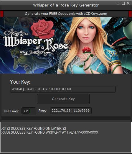 Whisper of a Rose cd-key