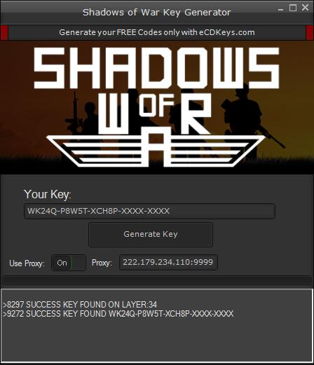 Shadows of War cd-key