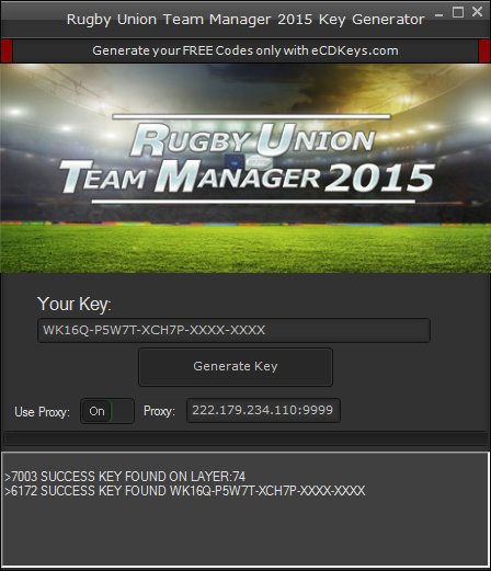 Rugby Union Team Manager 2015 cd-key