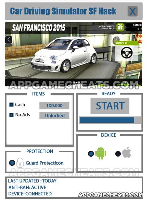 Car Driving Simulator SF Hack for Cash & No Ads Unlock