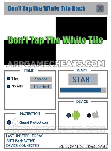 Don't Tap the White Tile Hack for Tiles & No Ads Unlock